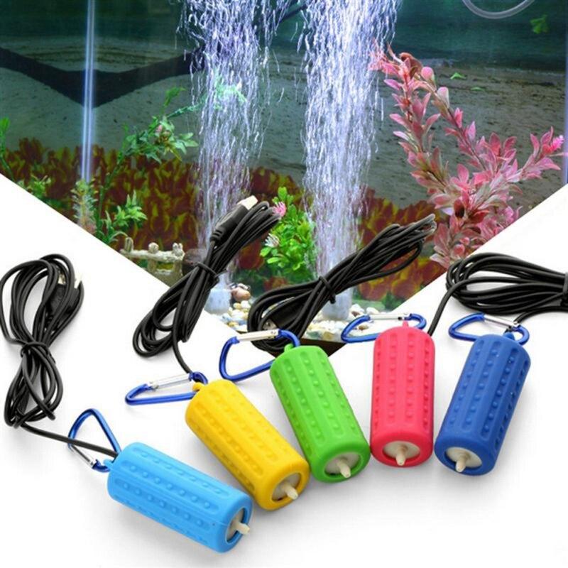 Usb mini aquário filtro de oxigênio bomba de ar para a função do tanque de pesca ultra silencioso alta energia eficiente acessórios do tanque de aquário