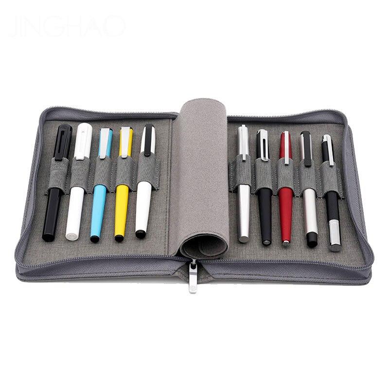 Bolsa de almacenamiento KACO ALIO para bolígrafos, impermeable, negro, gris, 10 soportes, 20 soportes, estuche de lápices, bolsas de colección para bolígrafos de lujo