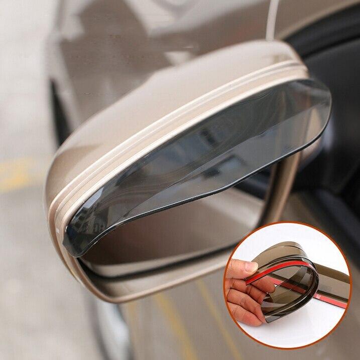 2 piezas espejo retrovisor de coche lluvia ceja pegatinas accesorios para volkswagen golf 7 ford mondeo opel vectra c asiento 6l