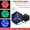 4Pcs שטוח Par אורות 3X60W חם לבן + 48X0.5W RGB 3IN1 LED רטרו פלאש אורות DMX שלב Par פחיות 3 פינים XLR מחבר Dj אורות