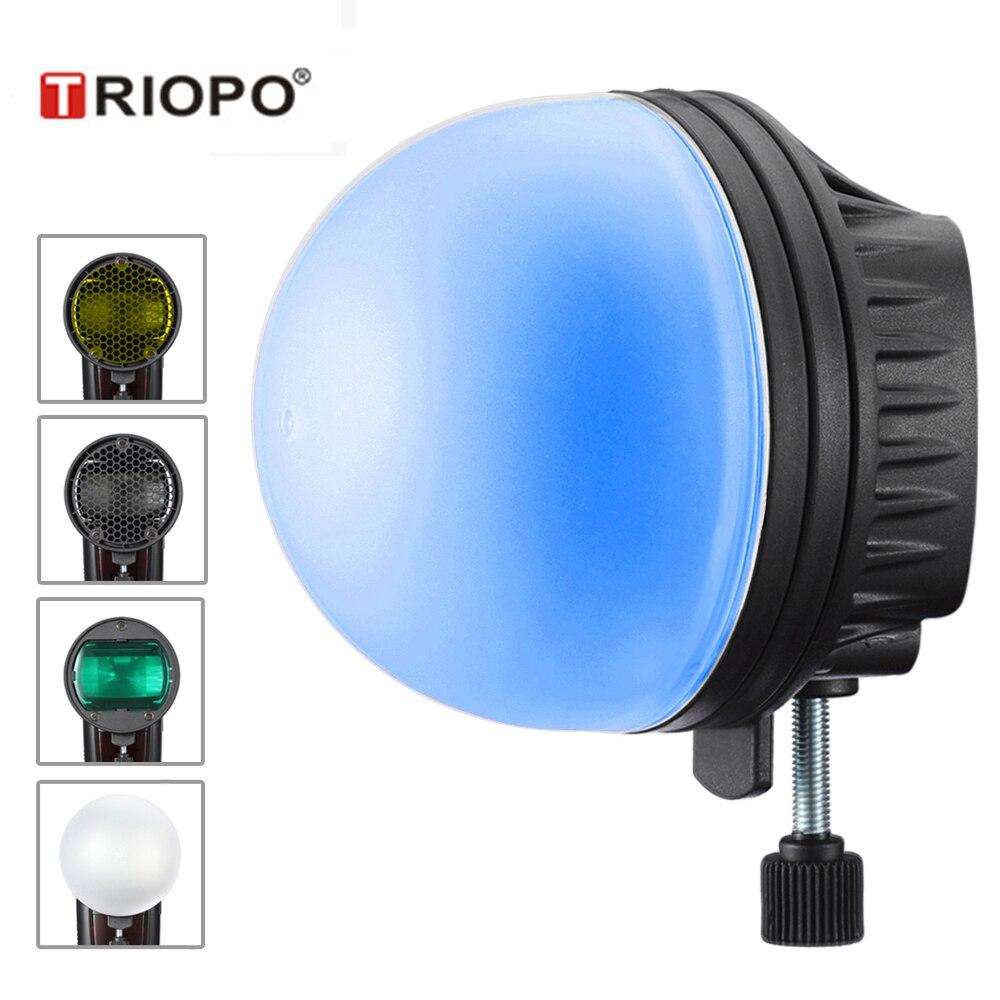 TRIOPO MagDome цветной фильтр отражатель сотовый шаровой рассеиватель аксессуары для фото наборы для GODOX YONGNUO Вспышка Замена AK-R1 S-R1