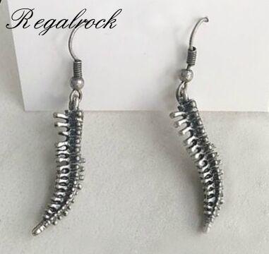 Серьги-пусеты Regalrock, серьги-пусеты для позвоночника