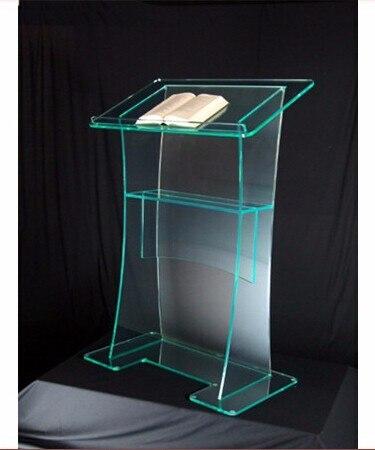 Gran oferta de diseños de púlpito de Iglesia acrílico, podio acrílico personalizado con logo