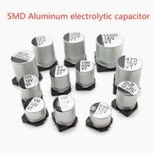 20 pièces SMD 10V 16V 25V 35V 50V 100UF 220UF 150UF 220UF 330UF 470UF 1000UF UF condensateur électrolytique en aluminium SMD