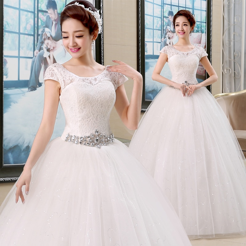فستان زفاف بأكتاف عارية ، فستان زفاف بسيط مع أربطة ، ريترو ، مجموعة جديدة