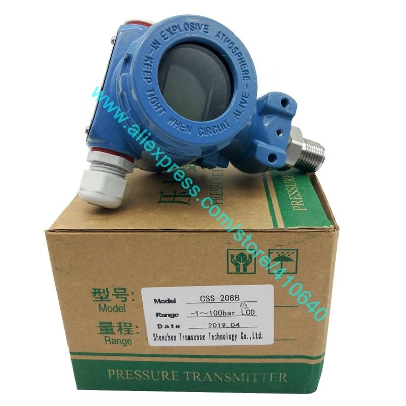 Датчик давления с ЖК-дисплеем, от 4 до 20 мА, от производителя, 1 до 100 бар, диффузный, кремниевый, Ex proof