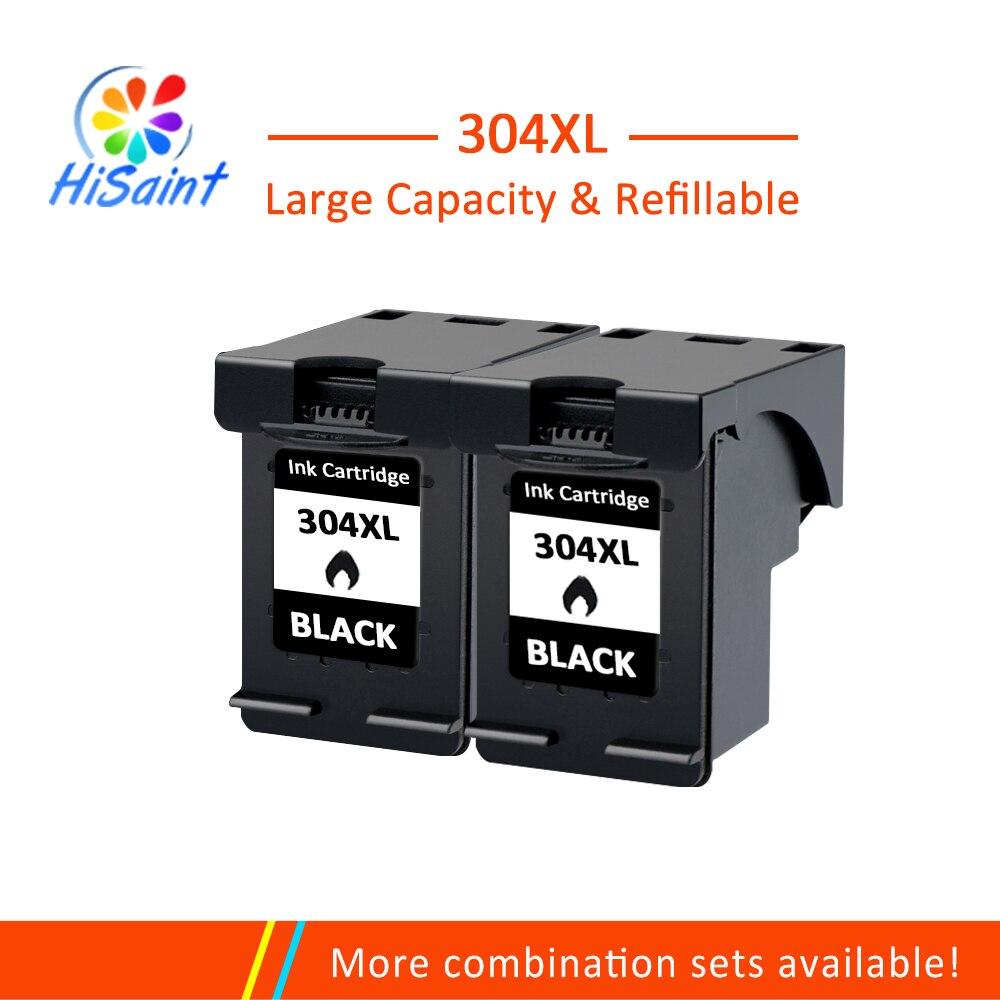 Hisaint 2BK 304 304xl N9K08AE N9K07AE Cartucho de Tinta para a HP Deskjet 3700 3720 3730 3732 printer