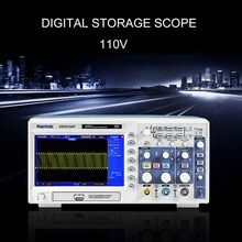 "Osciloscopio DSO5102P almacenamiento Digital 100MHz 1Gsa/S 2-CH 7 ""TFT pantalla USB WD portátil osciloscopio de mano"