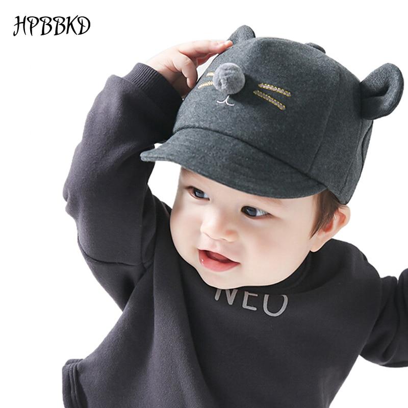 HPBBKD sombrero de moda para bebé niña niño recién nacido gorra de niño pequeño niña niño Unisex Gorra de béisbol de algodón niños sombrero sombreros de sol para niños GH213
