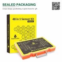 NEWEST!Keyestudio 48 in 1 Sensor Starter Kit With Gift Box For Arduino DIY Projects (48pcs Sensors)