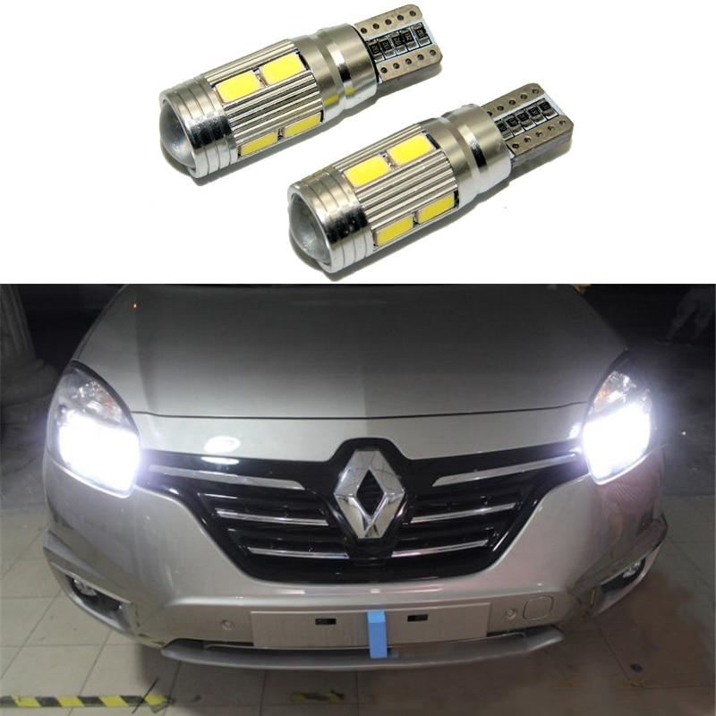 2X Led W5W T10 canbus Auto Licht mit Projektor Objektiv für Renault Trafic Safrane megane 2 duster logan laguna Koleos scala Stepway