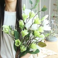 simulation flower nine head magnolia home decoration wedding holding flower road lead wall fake flower factory wholesale