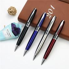 Stylo en métal boîte stylo à bille de luxe 0.7mm stylo à bille en métal école entreprise écriture cadeau peut graver logo et nom sur étui