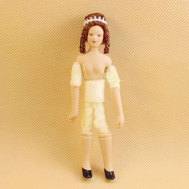 A03-X046 niños bebé juguete 112 casa de muñecas mini muebles miniatura accesorios muñeca desnuda chica 1 Uds