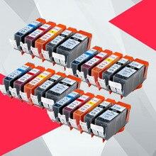 20PK Compatible pour Canon 520 521 cartouche dencre pour pgi520 cli521 pgi-520 PIXMA MP540 MP545 MP550 MP638 MP630 MP640 MP990 MP996