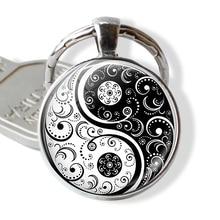 Taoïsme chinois signe porte-clés Vintage Tai Ji Yin Yang porte-clés Yin Yang pendentif bijoux accessoires