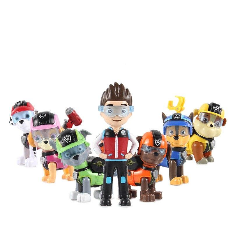 7Pcs/set Paw Patrol Dog Puppy Patrol Car Patrulla Canina Action Figures Vinyl Doll Toy Kids Children Toys Gifts
