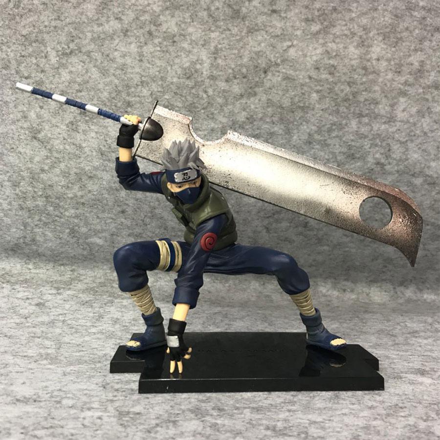 Figuras de Naruto Anime 15cm Hatake Kakashi Pvc figura de acción muñeca lucha Ver. Juguetes de modelos de colección regalos de navidad