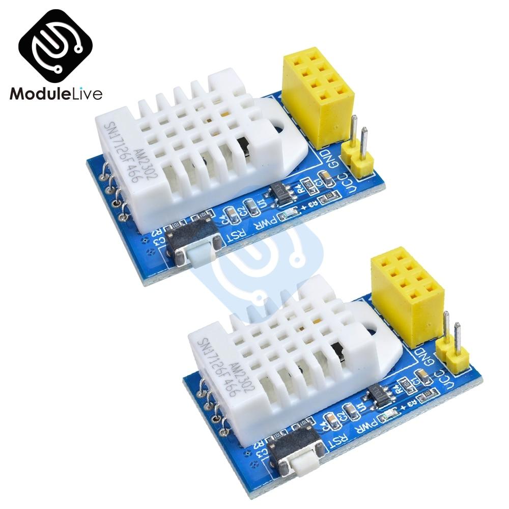 2 uds ESP8266 ESP-01S ESP-01 ESP01 DHT22 AM2302 Digital de temperatura y humedad Sensor Wifi módulo reemplazar SHT11 SHT15 de alta calidad