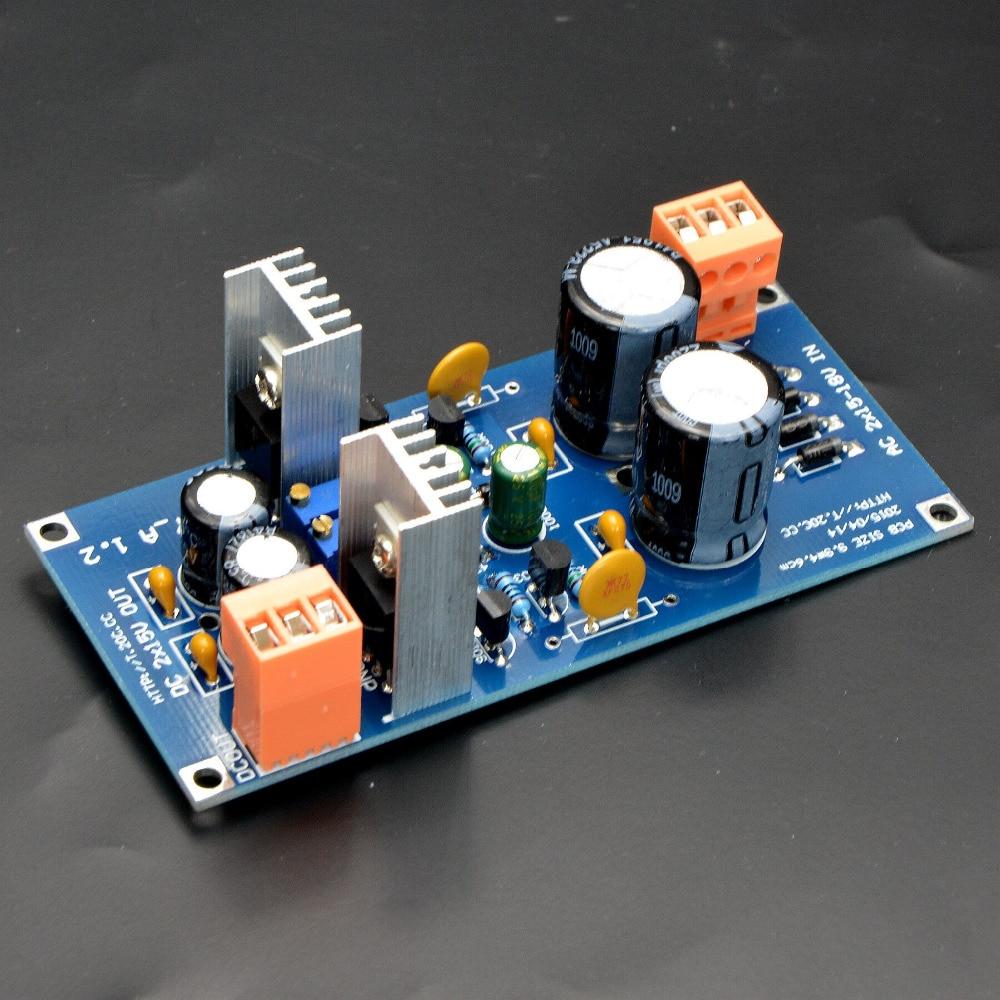 KIT DIY, placa de alimentación regulada, analógica, discreta, ajustable, doble salida