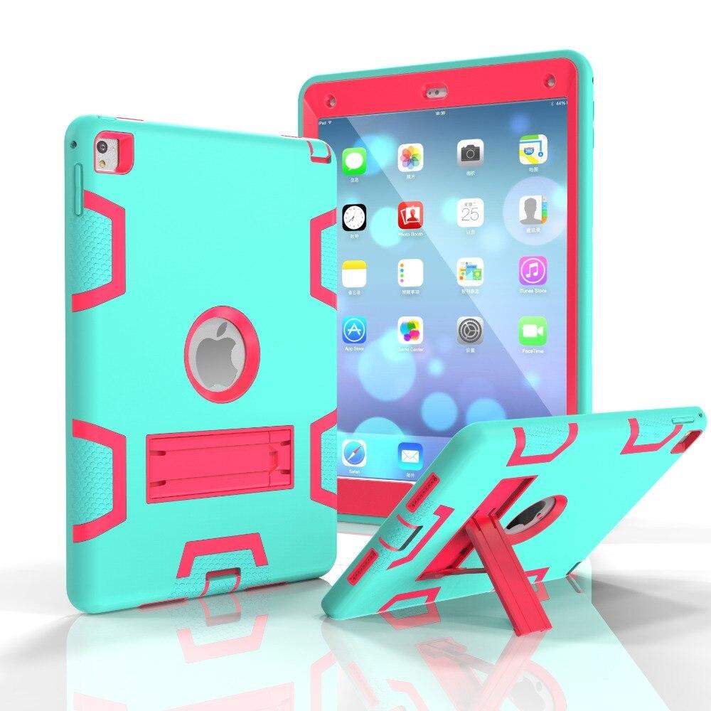 """Para iPad Pro 9,7 """"2016 funda híbrida resistente a impactos 3 en 1 funda protectora resistente a golpes fundas completas de silicona"""