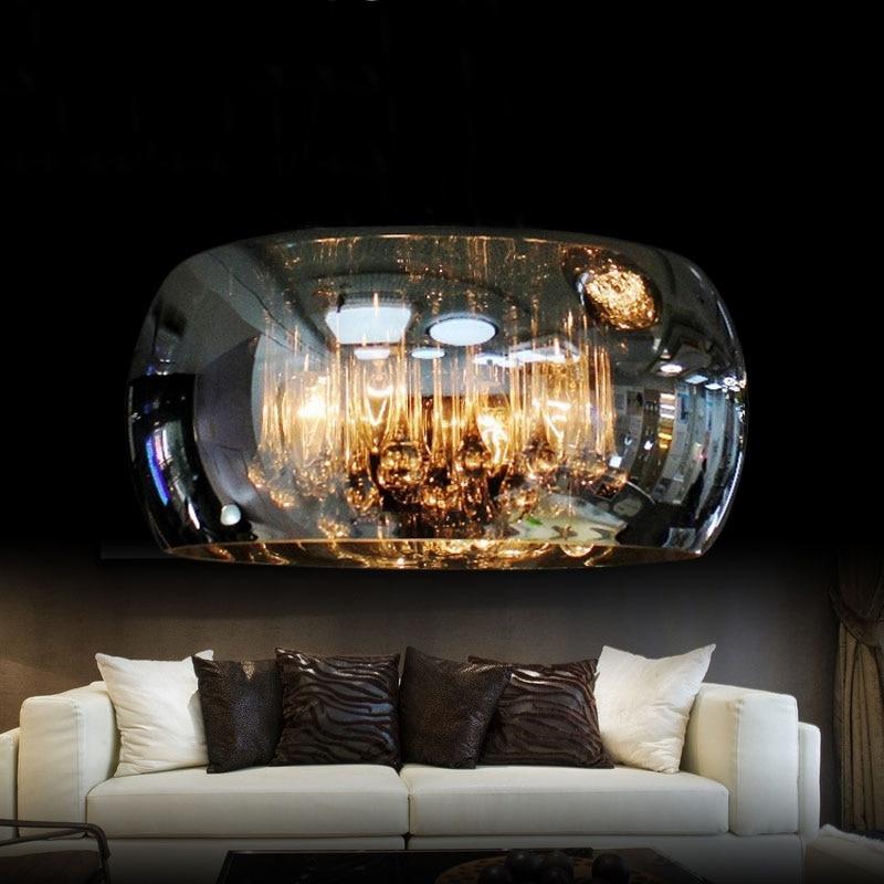 Lámpara colgante de cristal moderna, luz Led de techo, sala de estar Lustre para, lámpara de iluminación, lámpara de techo para dormitorio, Luminaria decorativa para el hogar
