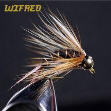 Wifreo 8 Stuks Maat 12 14 Messing Kraal Hoofd Prins Nimf Stonefly Nimf Caddis Fly Zwart Paars Bruin Wit Kleur vissen Lokken Aas