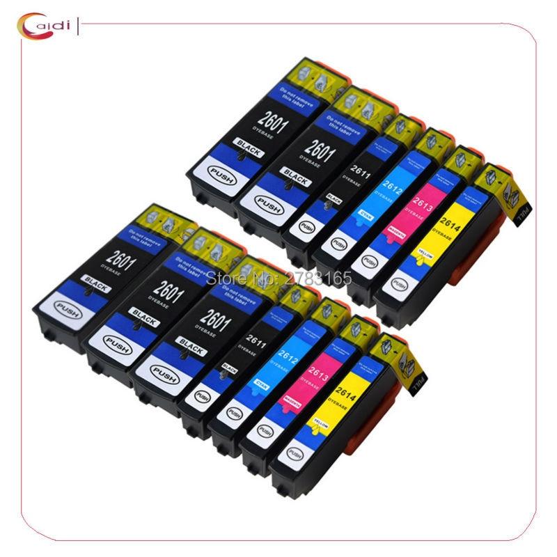 13 قطعة متوافق 26XL T2601 T2621 T2631 طابعة الحبر خرطوشة لإبسون XP-600 XP-820 XP-600 XP-605 XP-700 XP-800 XP520 XP620