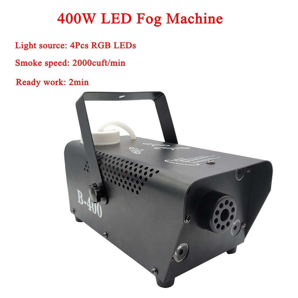 400W LED RGB 3IN1 Fog Machine Remote Control Smoke Machine RGB LED Disco DJ Party Wedding Stage Effect Lighting Equipment disco dj light co2 gun pistola co2 rgb gun co2 airsoft air guns jet machine for christmas halloween wedding party stage effect