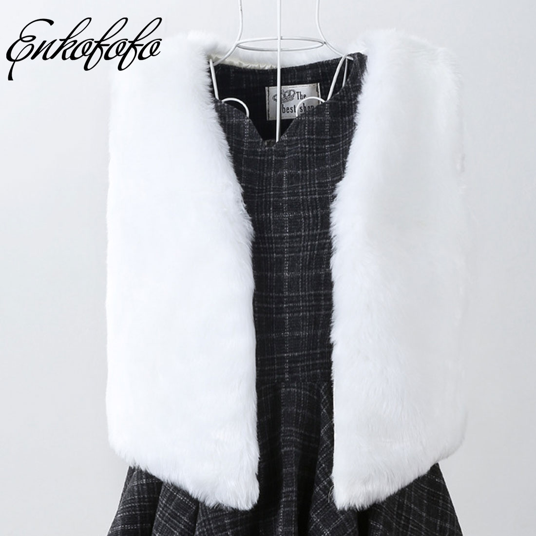 Autumn Winter Faux Fake Fur Vest Women Warm Sleeveless Vests Plus Size Jacket Coat Rabbit Fur Waistcoat Outwear Colete De Pele