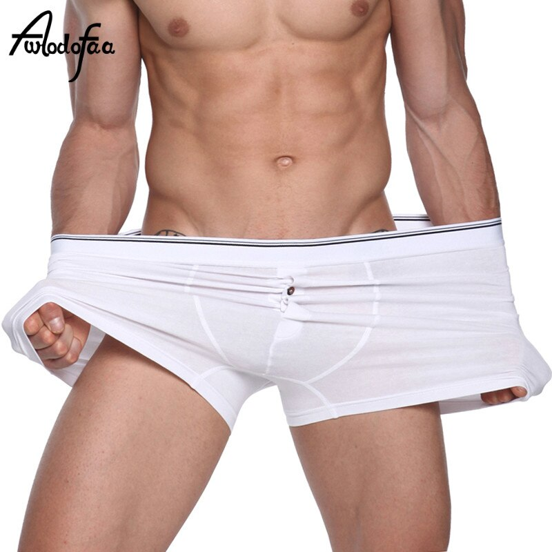 4Pcs/lot Hot Sell New High Quality Cotton Quality Fashion Sexy Brand Men's Boxer Shorts Man Underwear Male Large UnderPants Fat