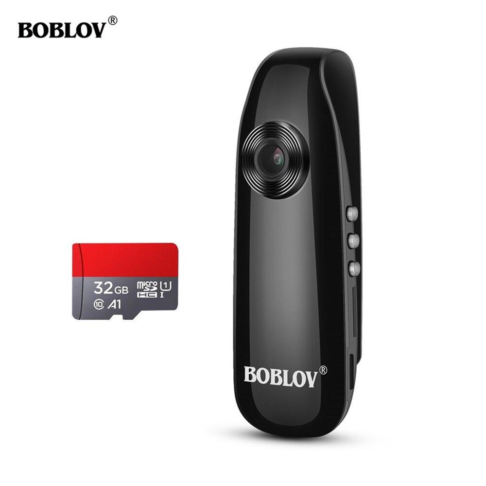 Boblov 007 Mini cámara 1920x108HD resolución cámara Digital AVI Video cámara 32GB TF tarjeta grabadora DVR Cámara Cuerpo de Policía