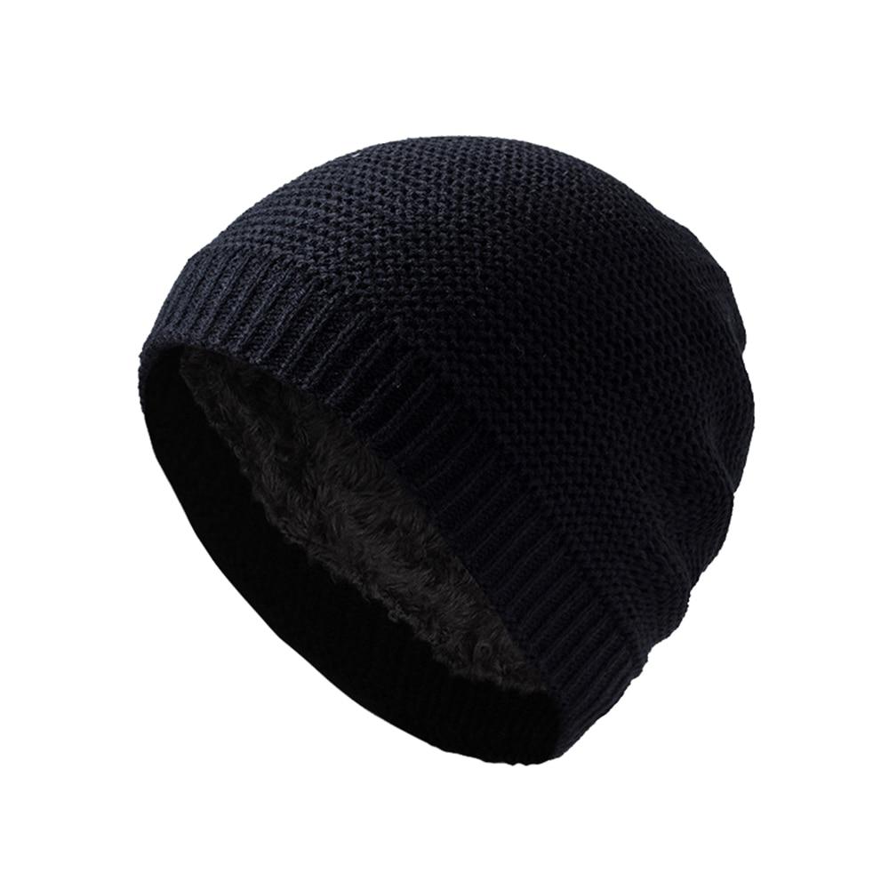 Hombres Mujeres cráneo Beanie invierno cálido de punto de Skullcap de moda Retro Marina Miki tapa sombrero de esquí mezcla de lana nueva 3 colores
