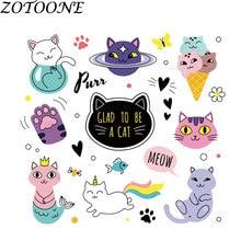 ZOTOONE-Patch bricolage Animal mignon   Patch chat personnalisé pour vêtements, Patch personnalisé pour transferts de cœur vêtements pour enfants E