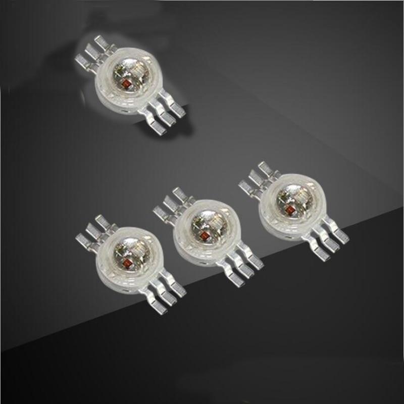 3W RGB LED مصباح الخرز 6pin الملونة ضوء عالية الطاقة rgb الخرز x100
