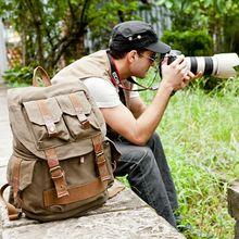 031318 new hot high quality man canvas amera bag male digital bag backpack