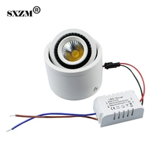 SXZM monté en Surface blanc led COB downlight 5 W/7 W/9 W/20 W lampe à led AC85-265V spot avec pilote led blanc/blanc chaud
