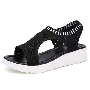 Fashion Women Sandals For 2019 Breathable Comfort Shopping Ladies Walking Shoes Summer Platform Black Sandal Shoes
