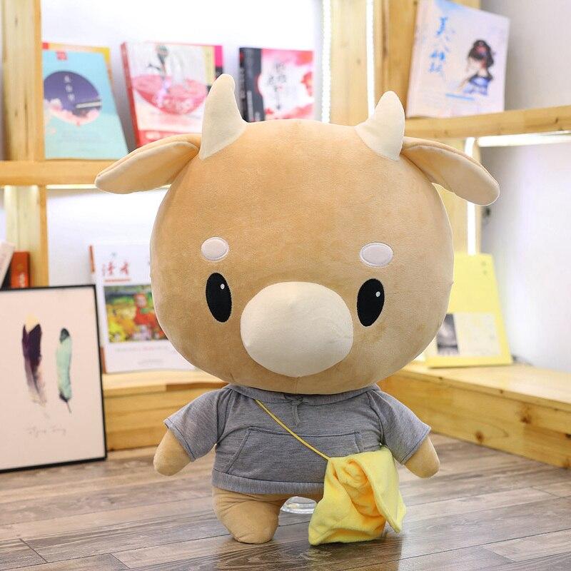Лидер продаж, 1 шт., 25 см/45 см, Корейская ТВ кавайная жесткая коровья кукла, плюшевые игрушки, крупный рогатый скот, животные, мягкие игрушки дл...