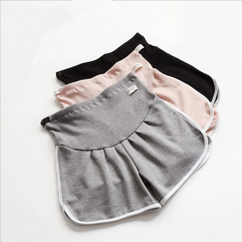 2019 spring / summer new Korean maternity sports shorts casual pregnancy loose stomach lift