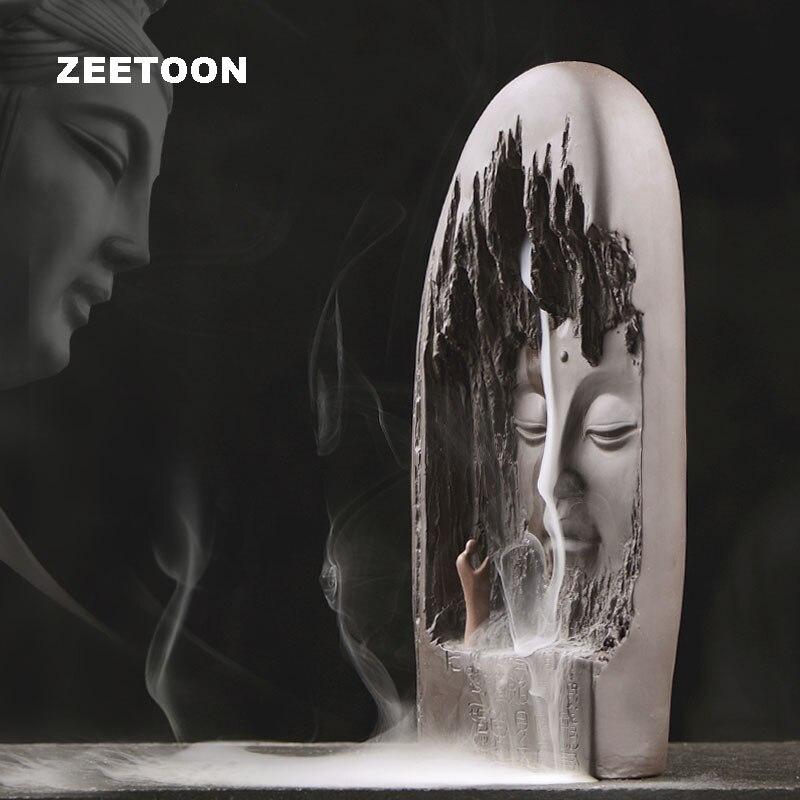 Yixing-brûleur dencens à reflux   Style Zen, vintage bouddhiste, encensoir aromathérapie domestique, ornement créatif, décoration de la maison