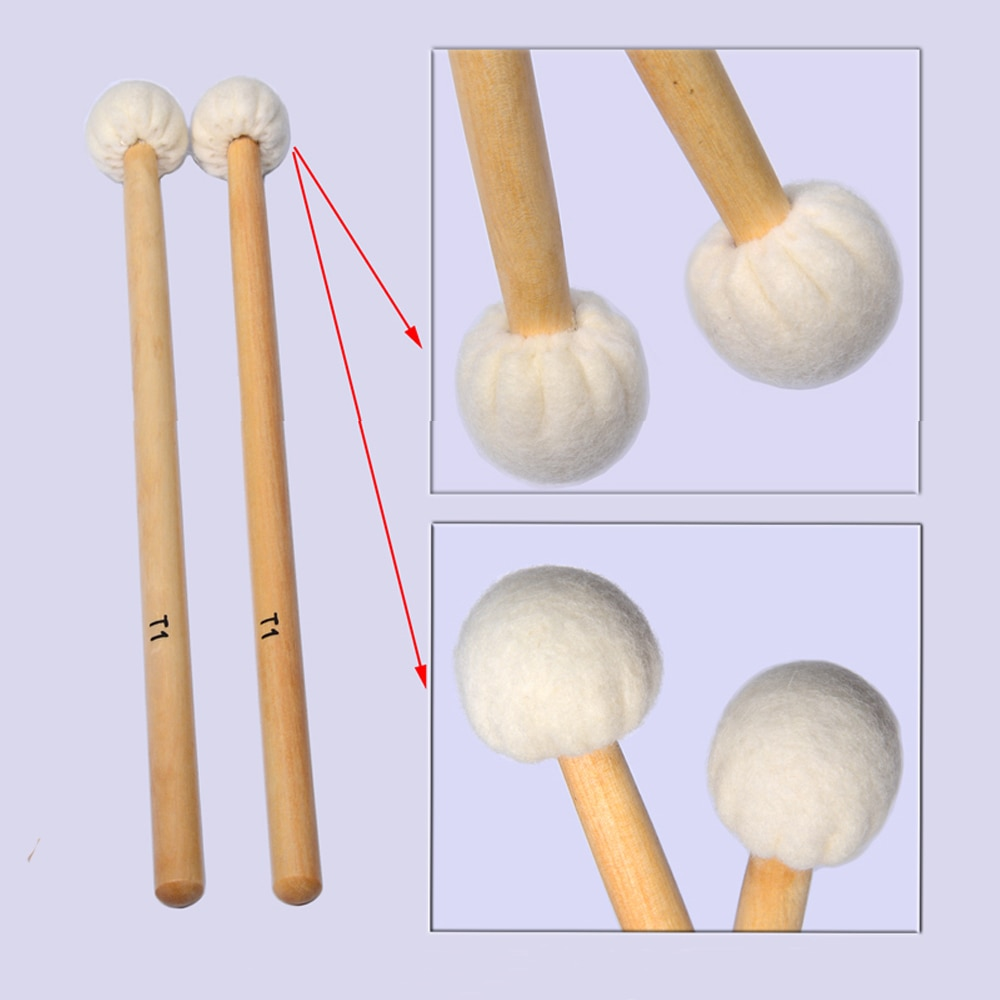 High Quality Timpani Mallets Precussion Beaters Hammer Drumsticks Free Shipping enlarge