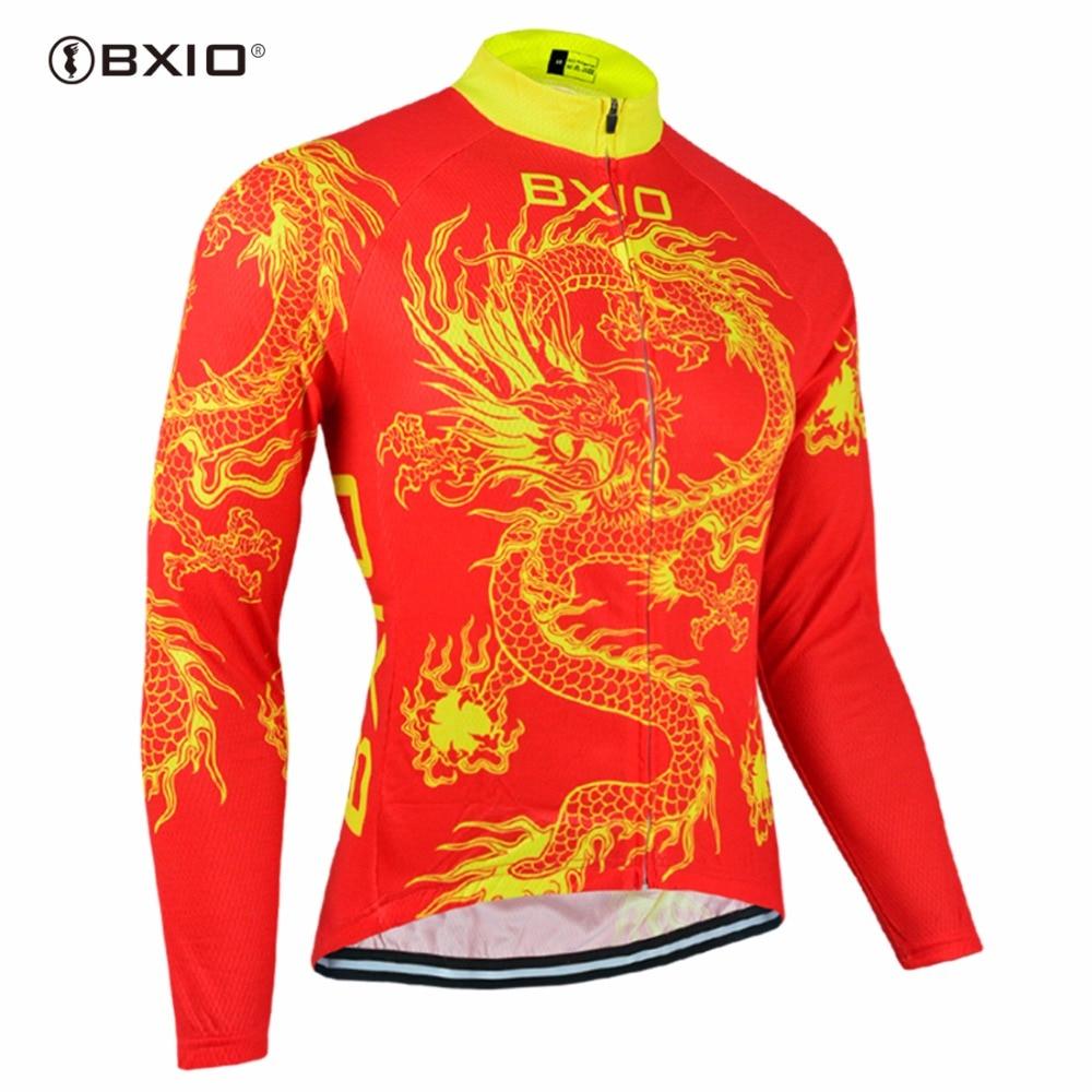 Bxio Invierno Polar térmico Ciclismo Jersey camisa rojo Maillot Ciclismo estilo Popular Equipacion Ciclismo Wielerkleding 023J