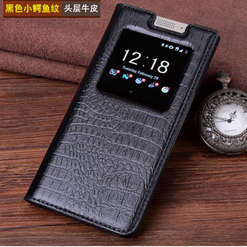 Фото Чехол из натуральной кожи для Blackberry KEYone чехол книжка крокодиловой сумка телефона