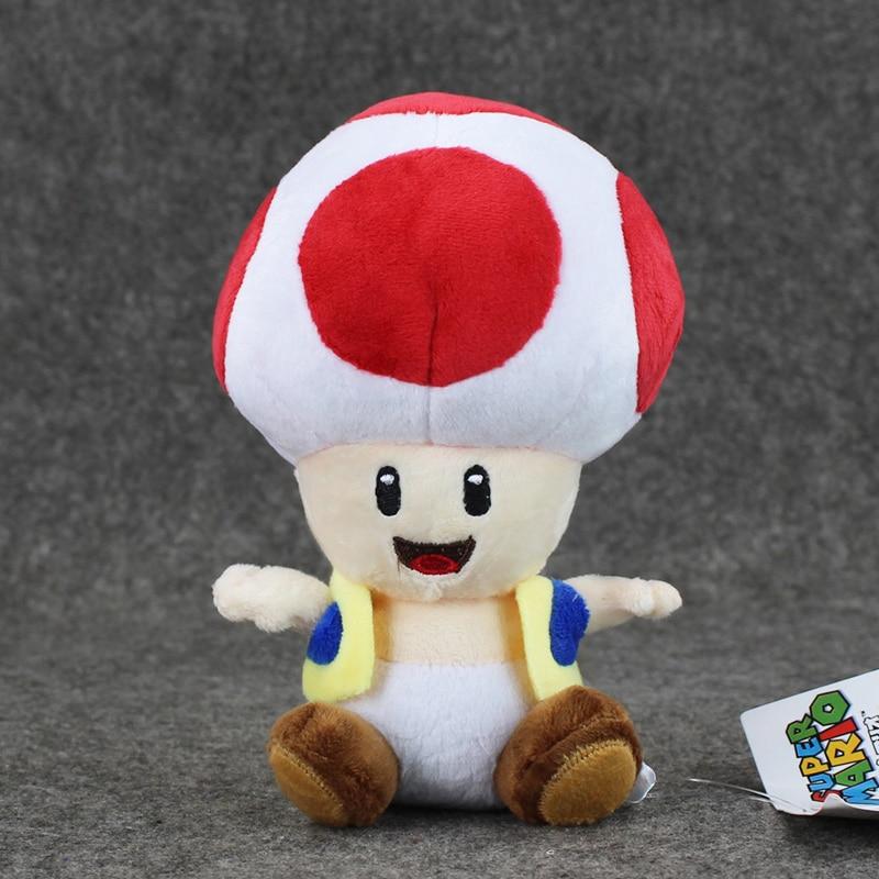 17cm Super Mario Bros Toad Plush Stuffed Dolls Plush Toys 17CM Plush Toys Kids Toy free shipping