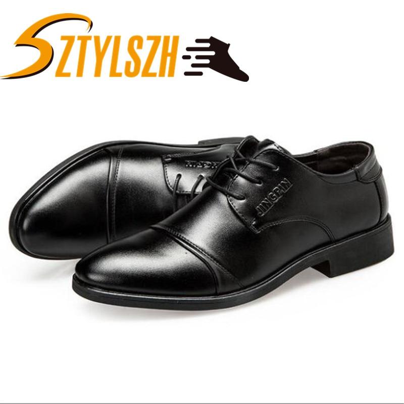 Brand Men Shoes Top Quality Oxfords British Style Men PU Leather Dress Shoes Business Formal Shoes Men Flats Plus Size 38-48