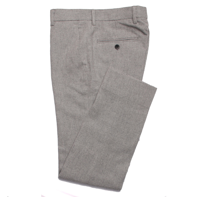 2019 модные серые Фланелевые брюки мужские облегающие деловые сделанные на заказ
