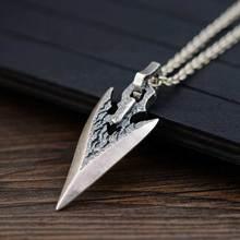 FNJ 925 pendentif couteau en argent accrocher Original S925 Thai argent pendentifs hommes femmes pour la fabrication de bijoux