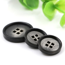 15mm/20mm High-end men's suit jacket buttons brand new Black Natural horns coat buttons imported gre