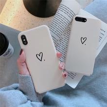 Lovebay amour coeur étui pour iPhone X XS Max XR 7 8 6 6s Plus étui de téléphone mignon motif dur PC pour iPhone 7 8 couverture arrière